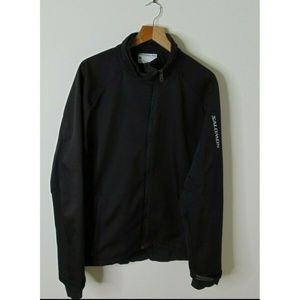 Salomon XL Zip Soft Shell Outdoor Jacket Black